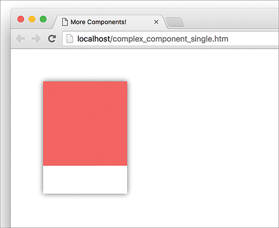 """The result of the """"complex_component_single.htm"""" page now displays the pink portion of the palette at the top, with a narrow white region at the bottom."""