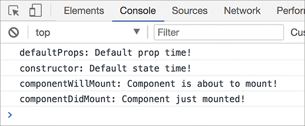 A screenshot shows the Console view in Chrome.
